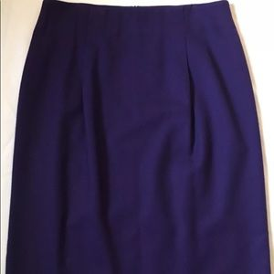 Talbots Purple Women's Skirt Size 12